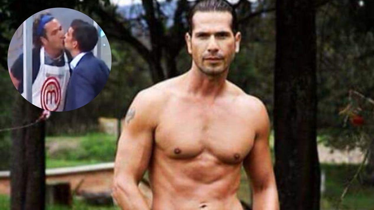 """El actor colombiano Gregorio Pernía, conocido por su papel de """"El Titi"""" en la serie """"Sin senos no hay paraíso"""", causó furor con este beso en pleno programa . ¡Tienes que verlo!"""