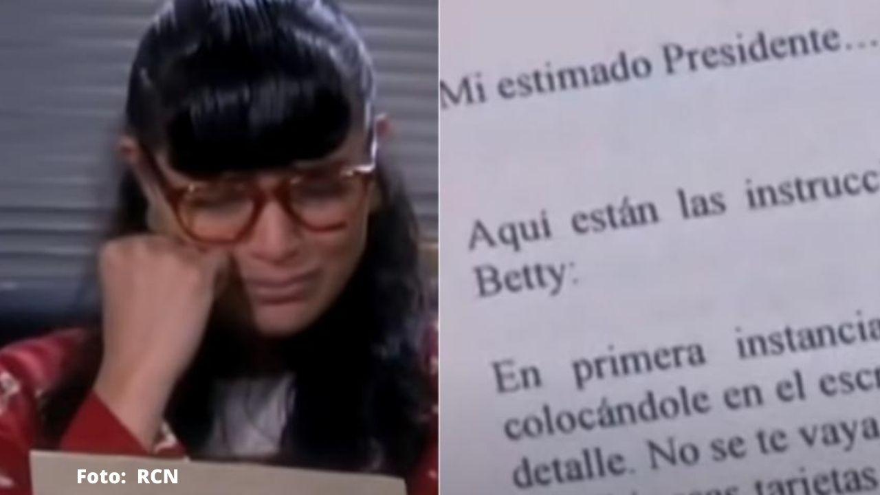 ¿Recuerdas la carta que encontró Betty? En ella, relataba el plan de Armando para conquistarla por esta razón, aquí completa