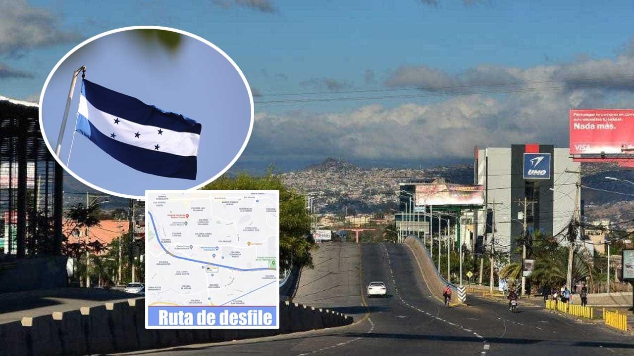 Conozca el listado completo de los tramos de Tegucigalpa que estarán cerrados durante la celebración del 15 de septiembre