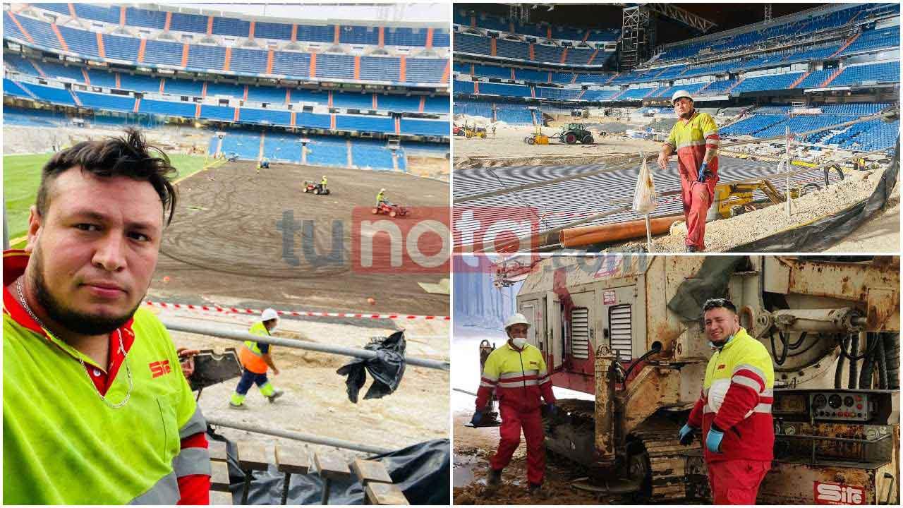 El compatriota vive desde hace 11 años en España, donde trabajó como pintor y ahora labora en la remodelación del estadio Santiago Bernabéu del Real Madrid