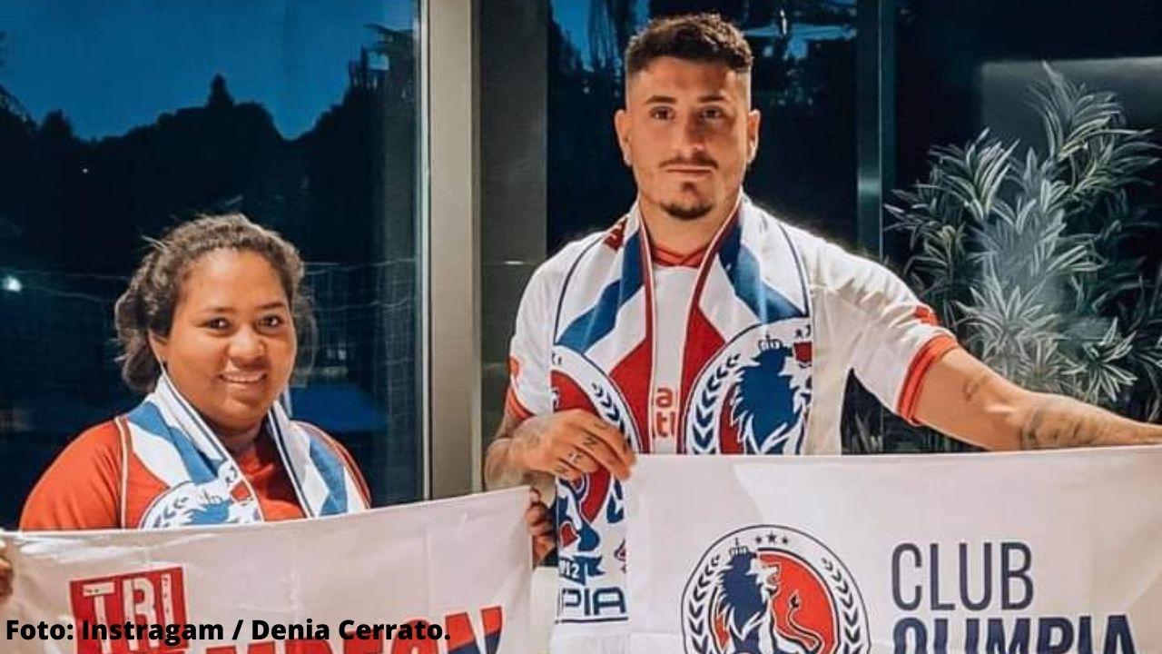 Denia y José María posan juntos por primera vez con los colores del actual campeón hondureño Olimpia, mira las fotos, ¡hasta con la bandera del León!