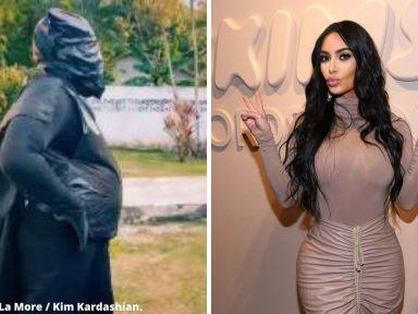 ¿Alegría de pobre? Usuarios atacan a La More por emocionarse del mensaje de Kim Kardashian