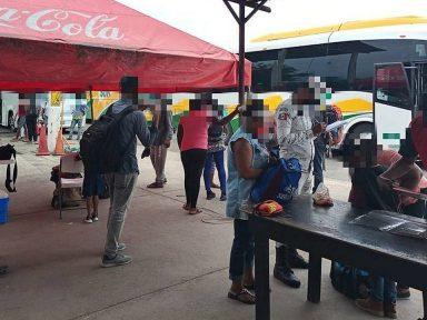 Interceptan a 71 migrantes, entre ellos hondureños, en Veracruz, México