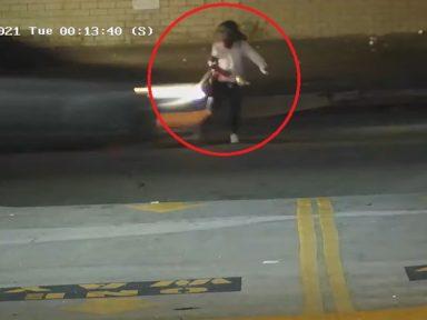 ¡Impactantes imágenes! Mujer en patineta muere atropellada en Los Ángeles