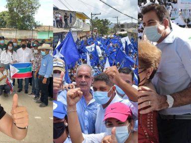 Candidatos a la presidencia de Honduras realizaron concentraciones el fin de semana en pleno auge de casos covid