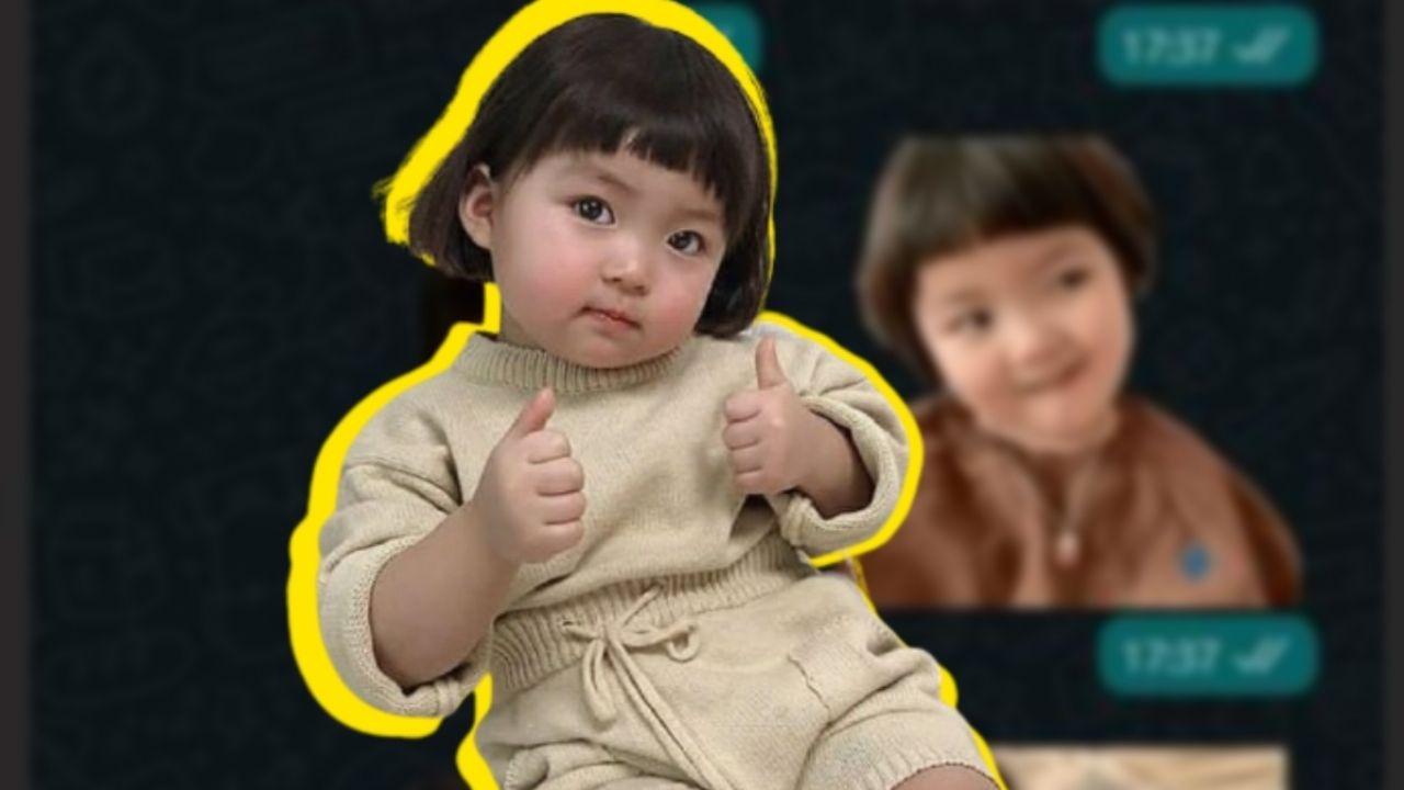 El sticker de la niña coreana se ha convertido en uno de los más utilizados en WhatsApp, sin embargo, ahora los usuarios tendrán que dejar de usarlo