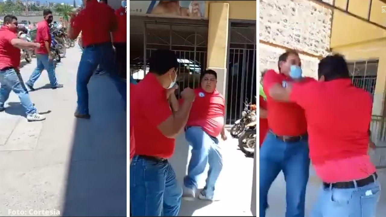 Los taxistas reaccionaron de forma violenta y empezaron una disputa en la gran terminal de San Pedro Sula, norte de Honduras, mira el video
