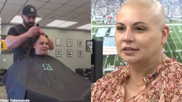 Enferma de cáncer decidió raparse y se llevó una conmovedora sorpresa de su barbero