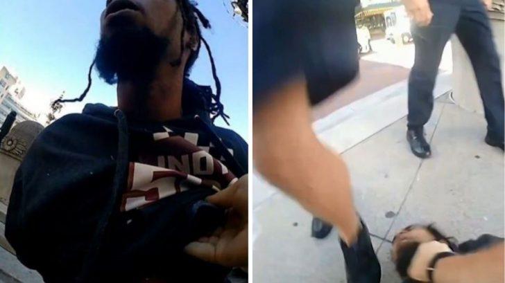 Vídeo: policía blanco pisotea la cabeza de hombre negro sin hogar tras esposarlo