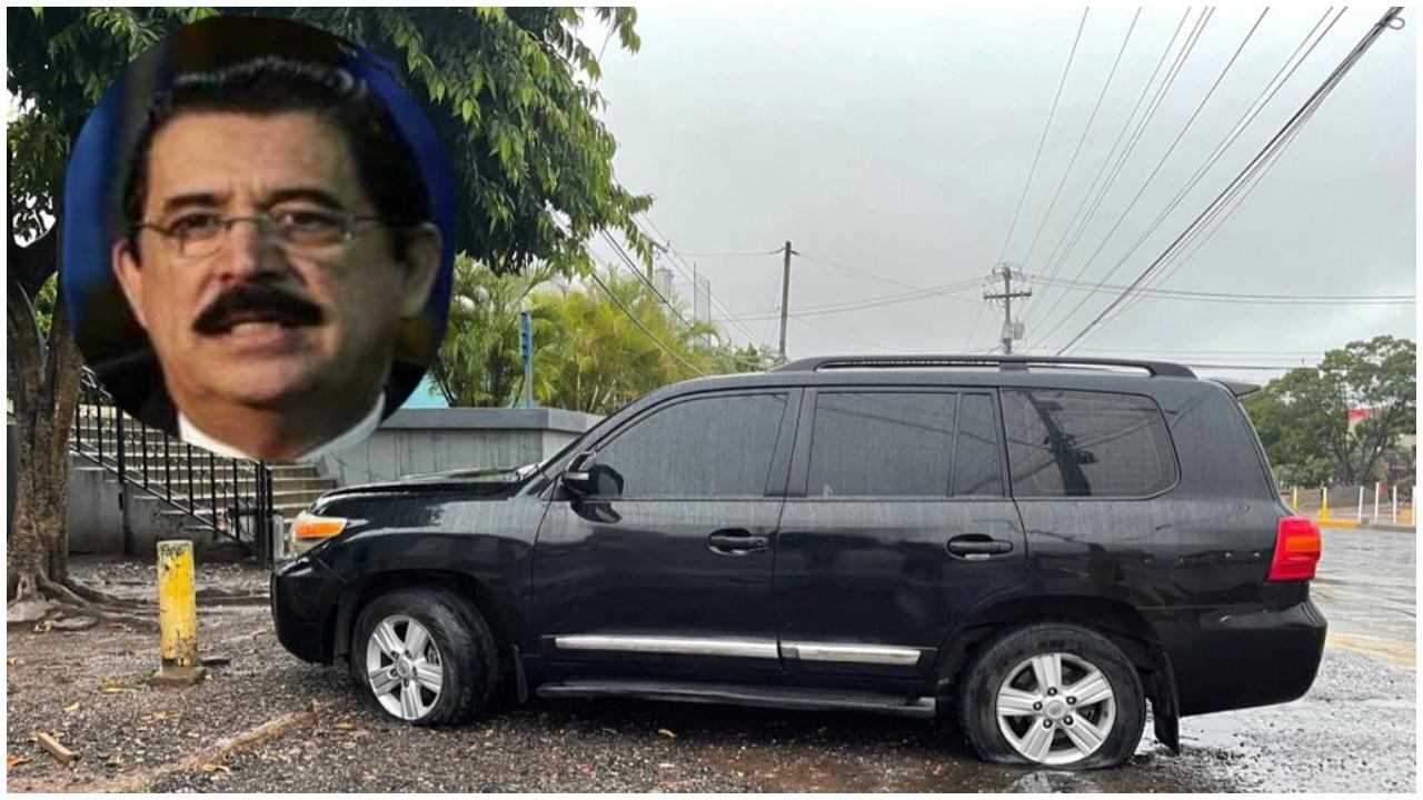 A eso de las 2:00 de la madrugada el vehículo, con dos llantas ponchadas, fue dejado a una orilla de la calle, frente a Emisoras Unidas. Aquí lo que se sabe del hecho
