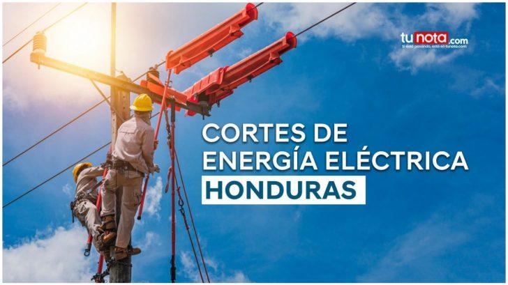 ¡Sin luz! Estas zonas de Honduras no tendrán energía el jueves 14 de octubre