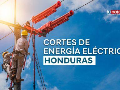 Barrios y colonias de Honduras que estarán sin energía eléctrica el martes 12 de octubre