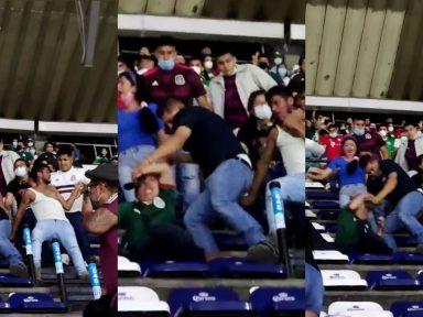 Aficionados se van a los golpes luego del partido Honduras vs México