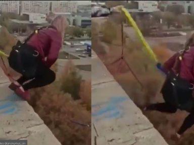 ¡Aterrador video! Mujer perdió la vida luego de lanzarse de un bungee y falló la cuerda; era madre de tres niños