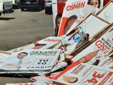Alcaldía capitalina retira propaganda electoral en lugares prohibidos