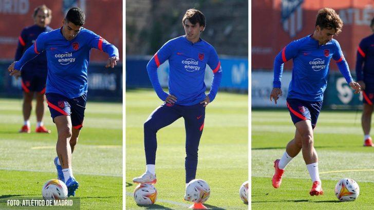 Simeone insiste con Suárez, Joao y Griezmann