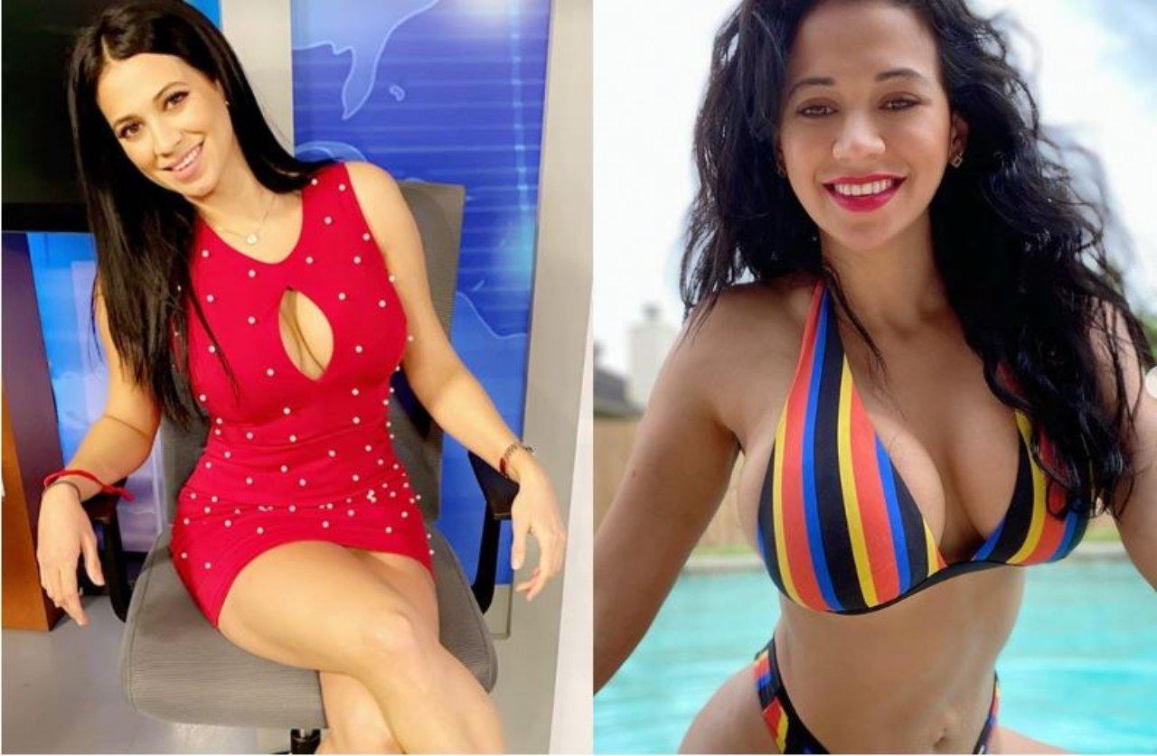 La conductora hondureña Carla Medrano sufre accidente de vestuario que dejó al descubierto su ropa interior