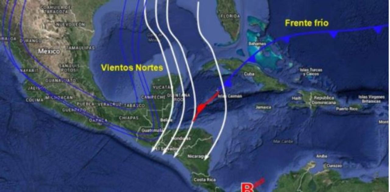 Lluvias y bajas temperaturas sufrirán hondureños este 1 de diciembre por el ingreso de un frente frío