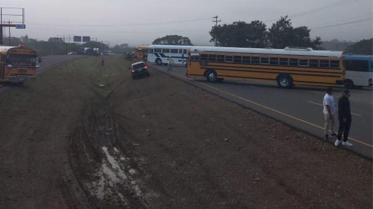 Principales zonas de Honduras bloqueadas por el paro de transporte interurbano