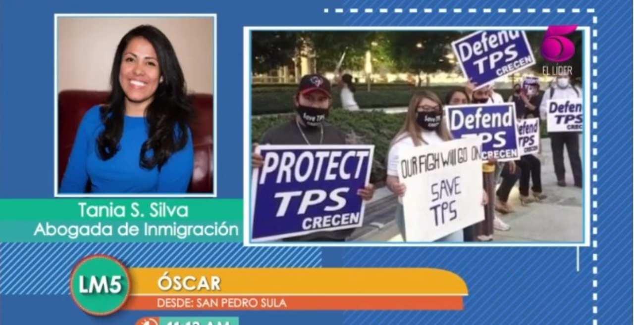 Hondureños amparados en el TPS tienen estas 3 opciones hasta antes del 4 de septiembre, según la abogada Tania Silva