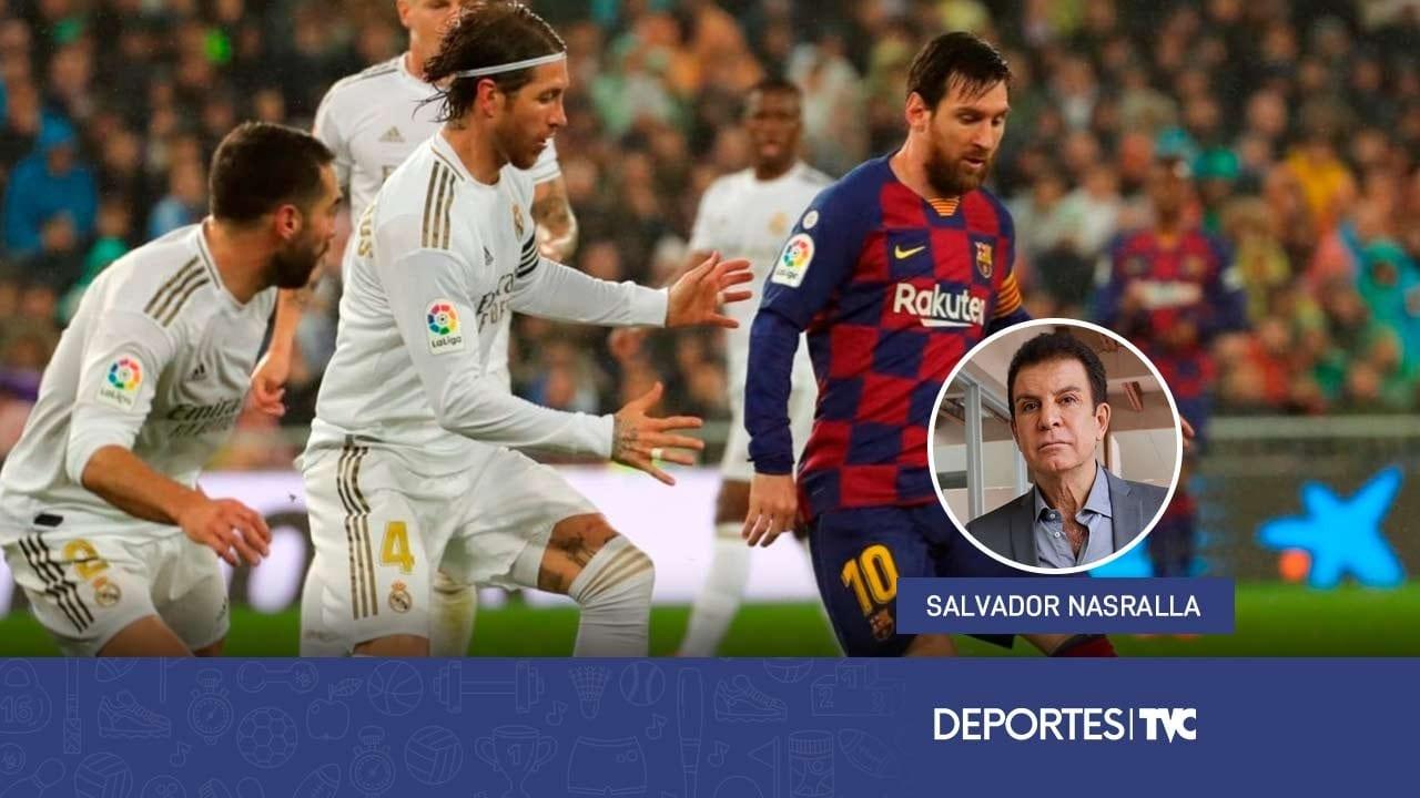 El Clásico español entre Barcelona y Real Madrid se juega este sábado y Salvador Nasralla nos dice su favorito