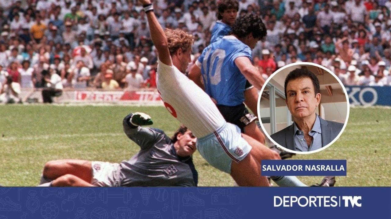 Salvador Nasralla le rinde homenaje Maradona recordando su relato en aquel histórico gol del Mundial de México '86