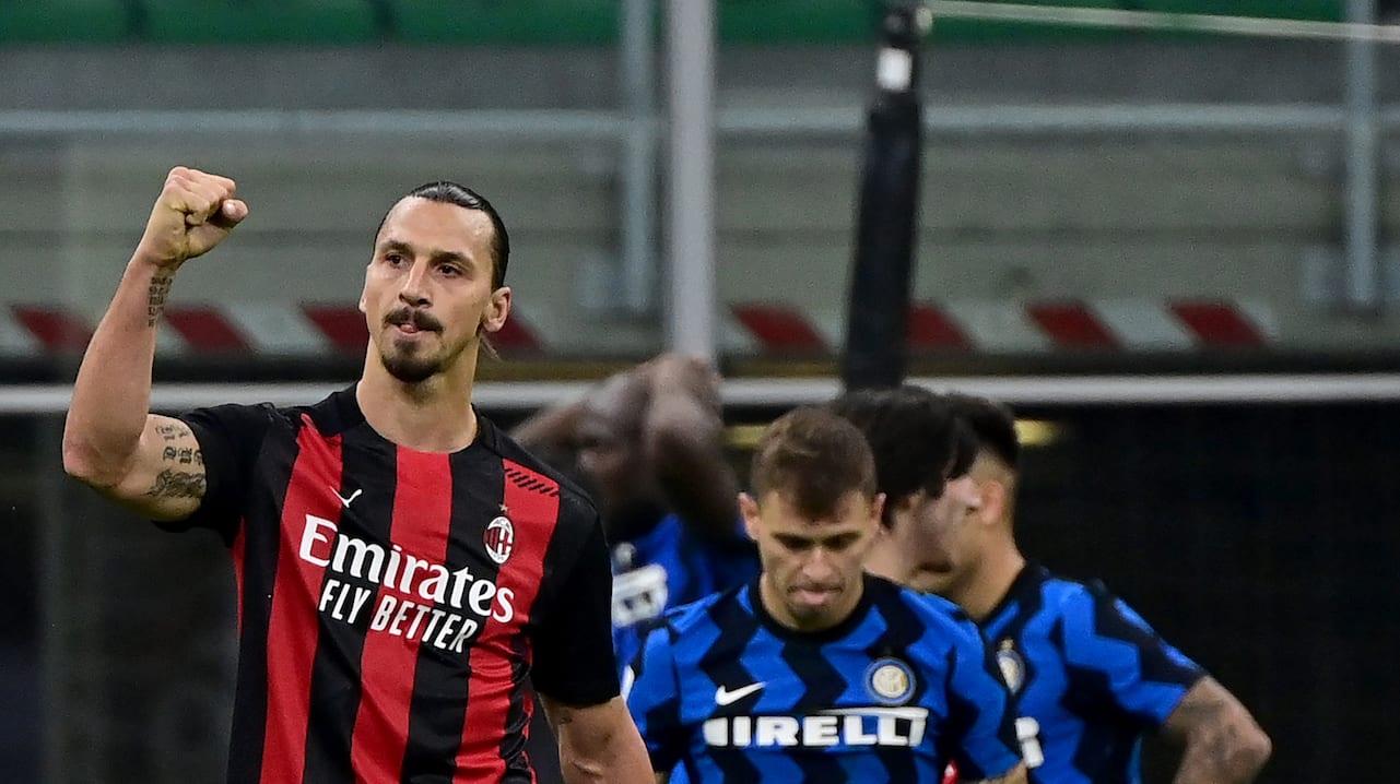 Doblete de Zlatan en triunfo del Milan ante el Inter
