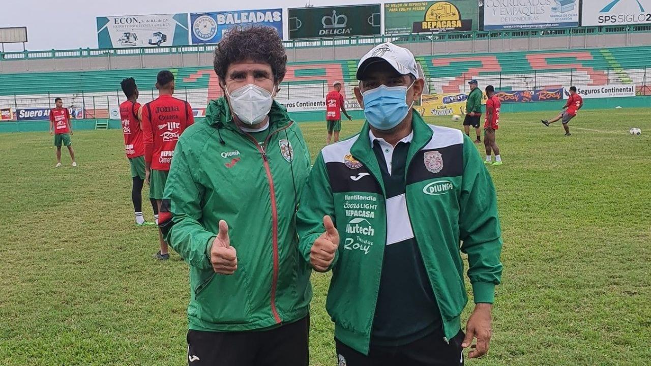 Rolin Peña y directiva del Marathón agradece el gesto de la dirigencia del Olimpia