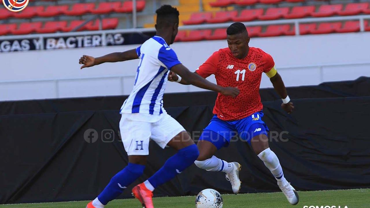Empate entre las selecciones Sub-23 de Costa Rica y Honduras en primer amistoso