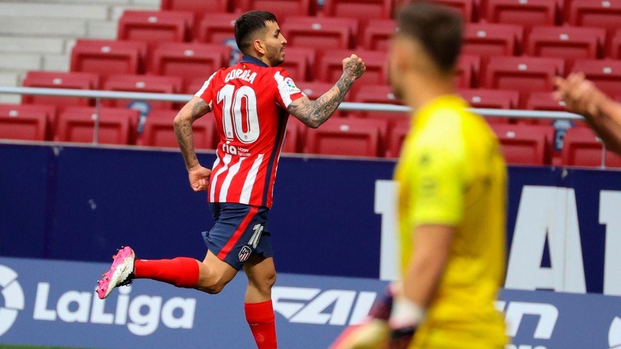 Atlético derrota al Huesca y se apodera otra vez de la cima en España