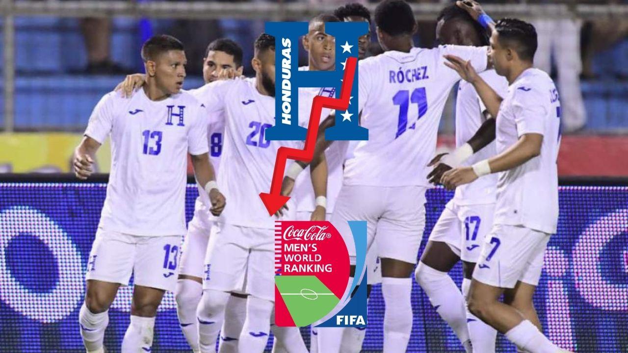 Honduras desciende varios puestos en el Ranking FIFA