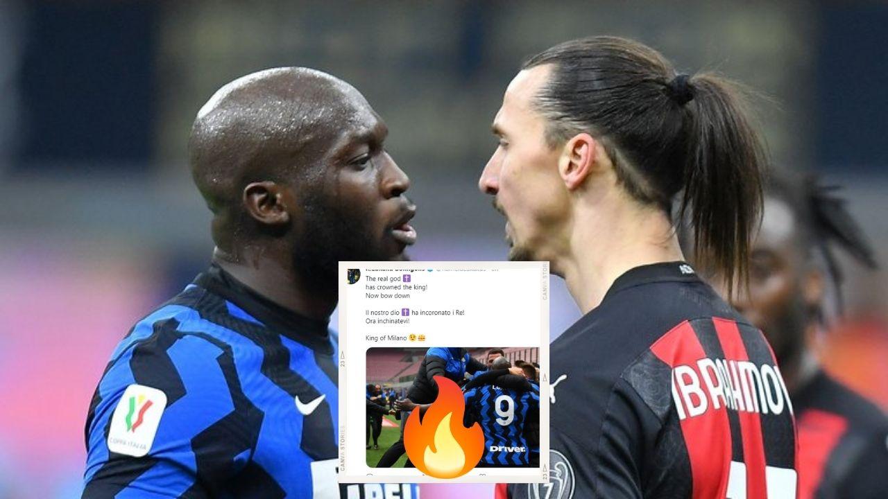 El mensaje de Romelu Lukaku a Zlatan Ibrahimovic tras ganar la Serie A