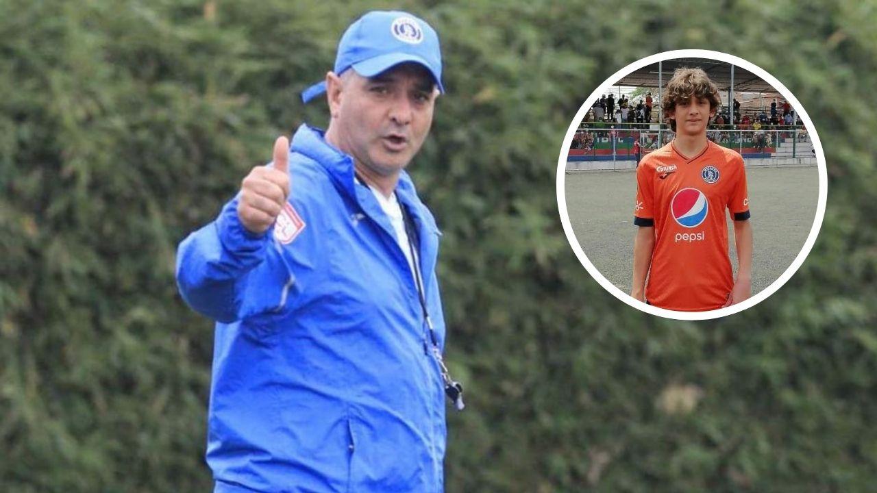 Hijo de Diego Vázquez es convocado a la Selección Sub-15 de Honduras