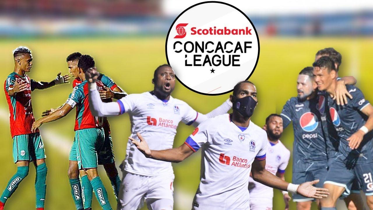 Motagua, Marathón y Olimpia  conocerán su destino en la Concacaf League 2021