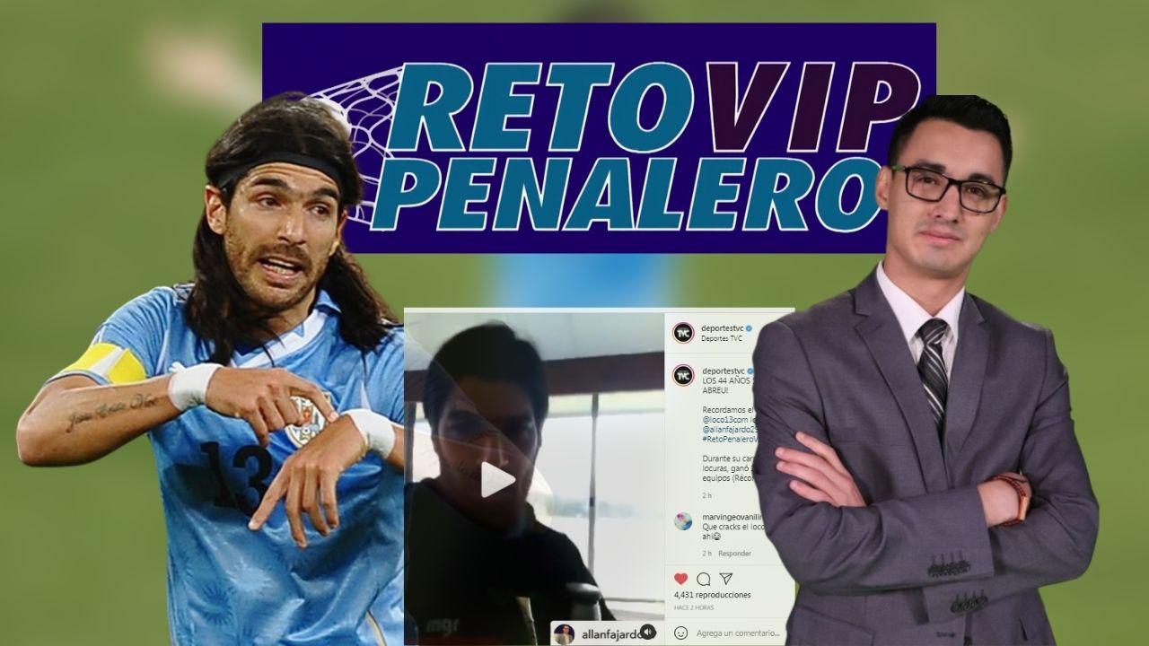 Recordamos el consejo del Loco Abreu para Allan Fajardo en el Reto Penalero VIP