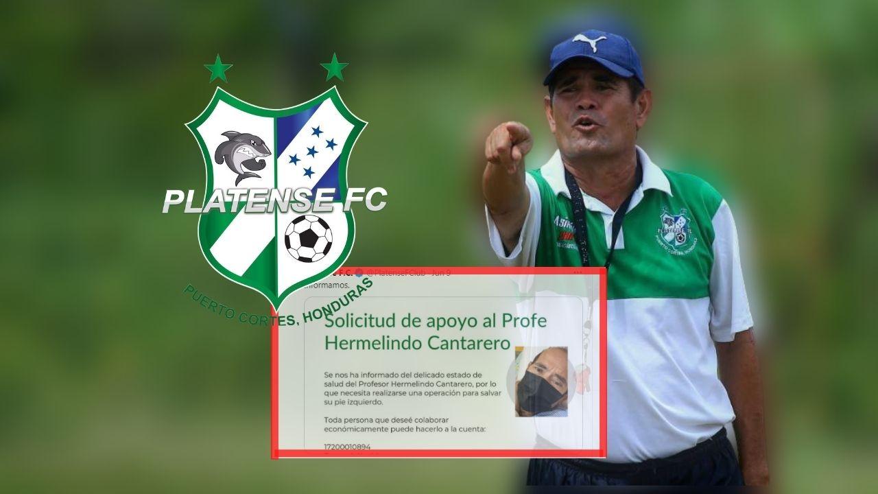 Platense solicita ayuda para histórico entrenador hondureño