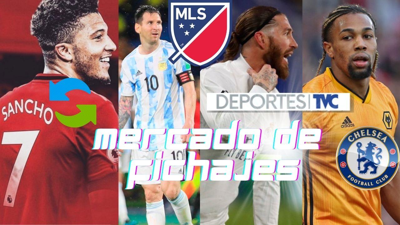 Mercado de Fichajes: MLS podría ser el destino de Messi, novedades con Ramos y el acuerdo Sancho-United