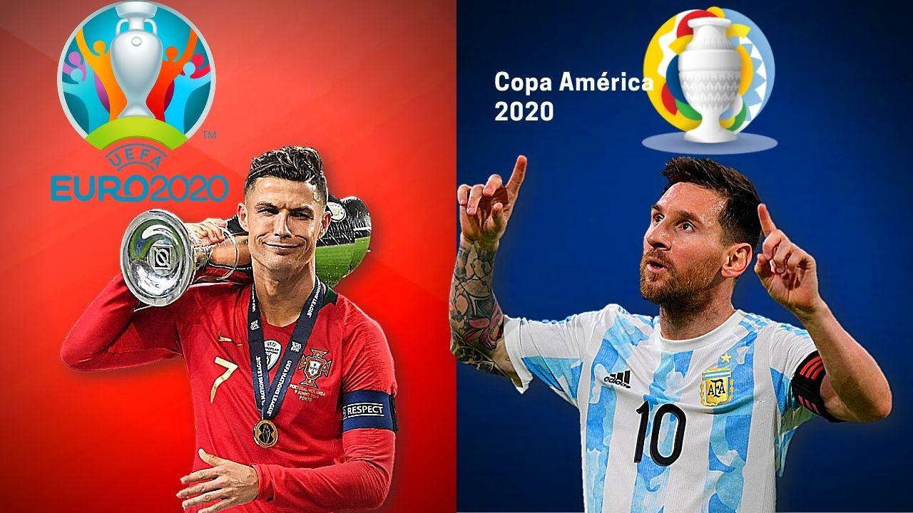 Messi y Cristiano buscarán romper récords históricos en la Copa América y Eurocopa