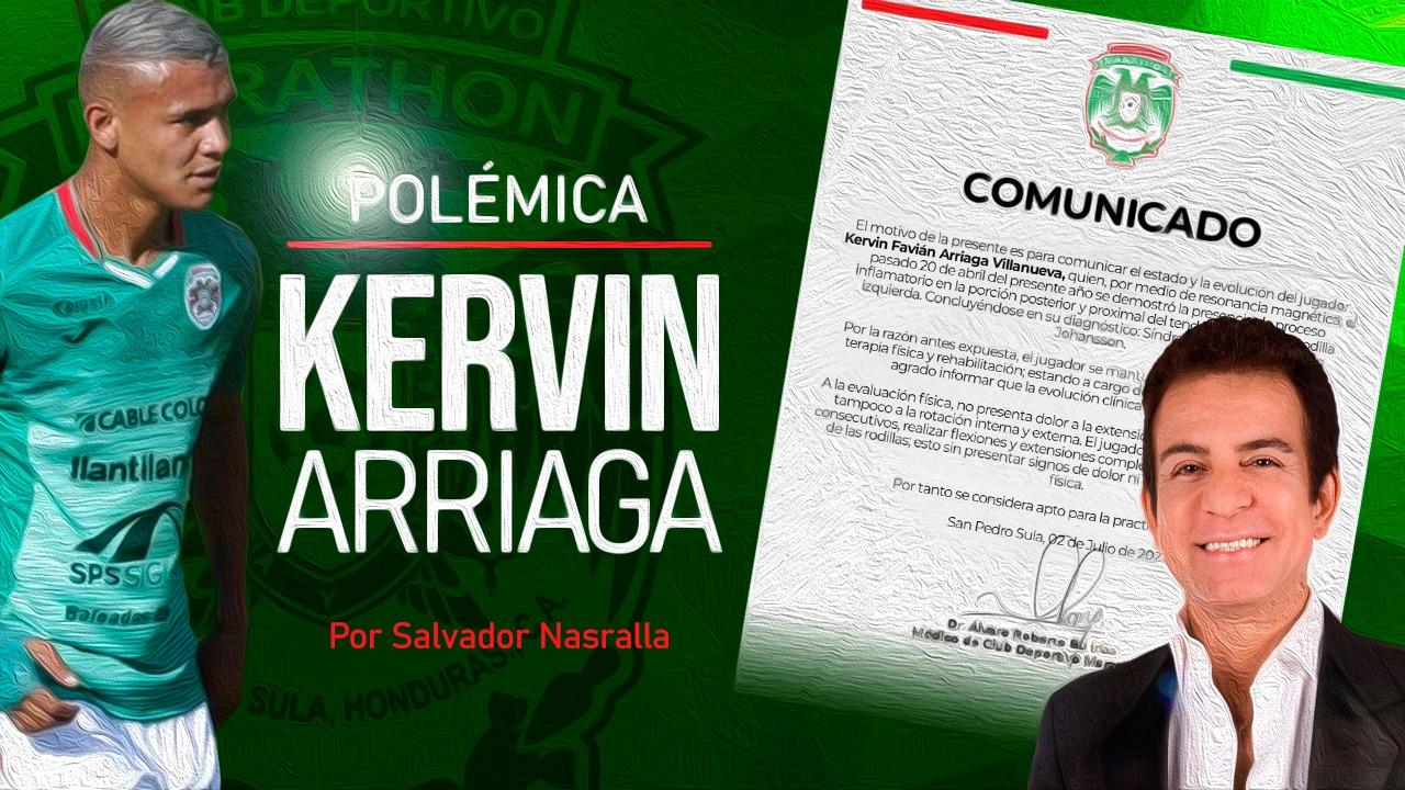 Salvador Nasralla: Kervin Arriaga no está al cien por ciento disponible