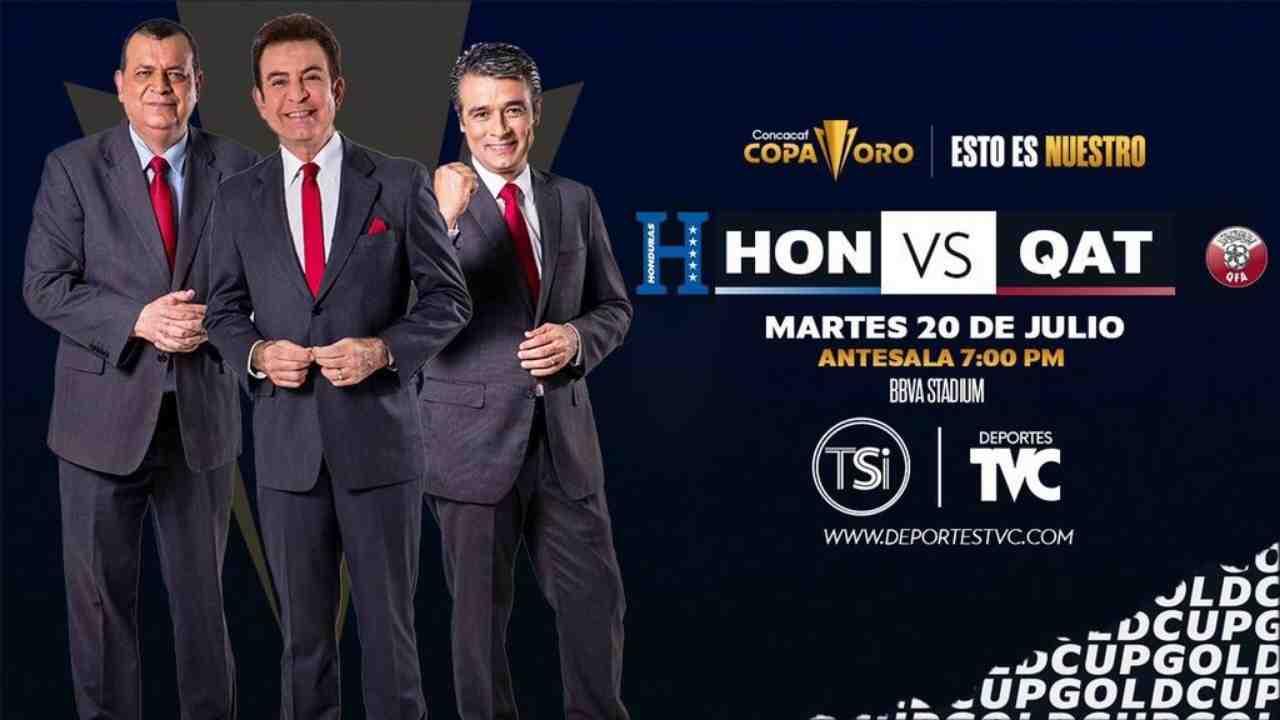 Copa Oro 2021: Honduras vs Qatar, hora y canal de la transmisión