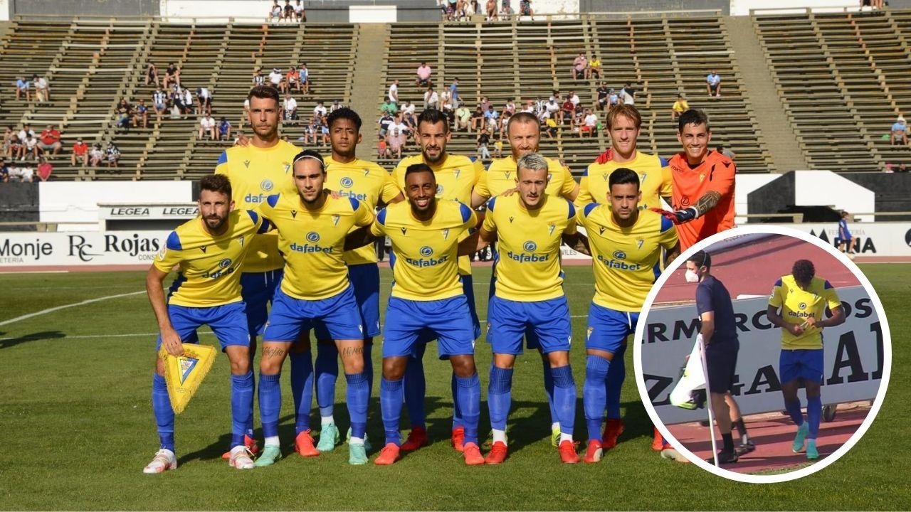 Choco Lozano se retira lesionado de amistoso del Cádiz