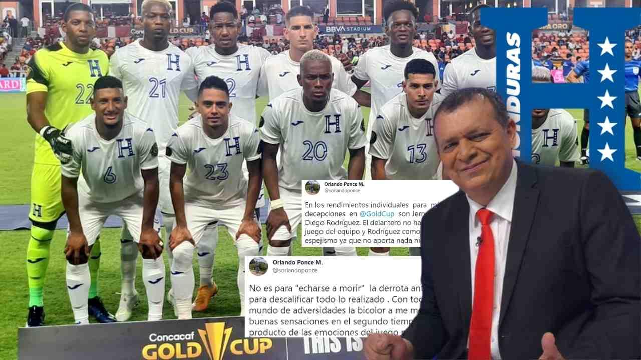 Orlando Ponce revela quiénes son las grandes decepciones de Honduras en la Copa Oro 2021