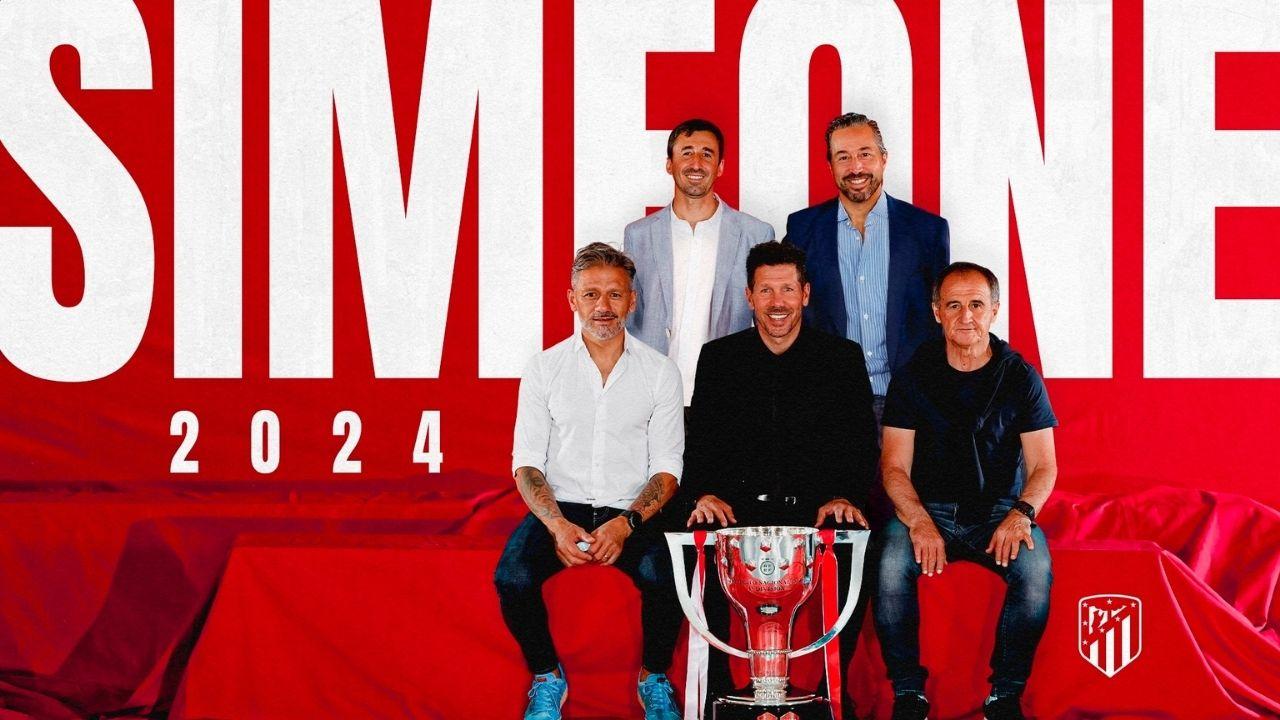 Cholo Simeone renueva con el Atlético de Madrid y su legado continúa