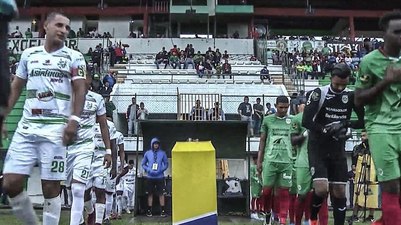 Este fue el último partido que se jugó con público en Honduras