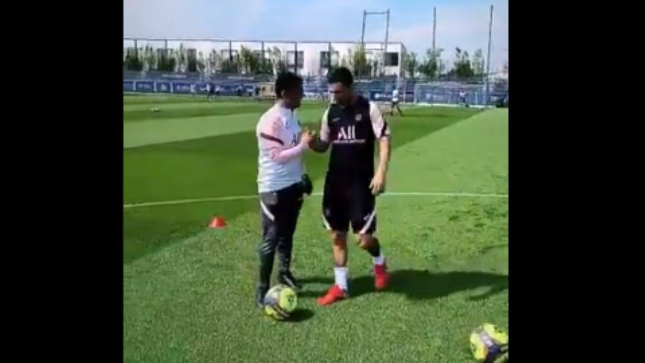 Las primeras imágenes de Lionel Messi entrenando con el PSG