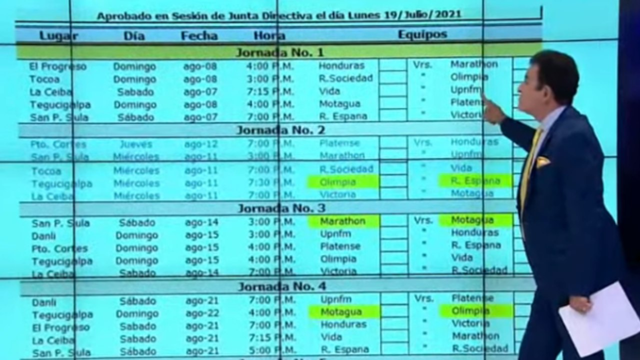 Salvador Nasralla criticó similitud de horarios en juegos de Liga Nacional