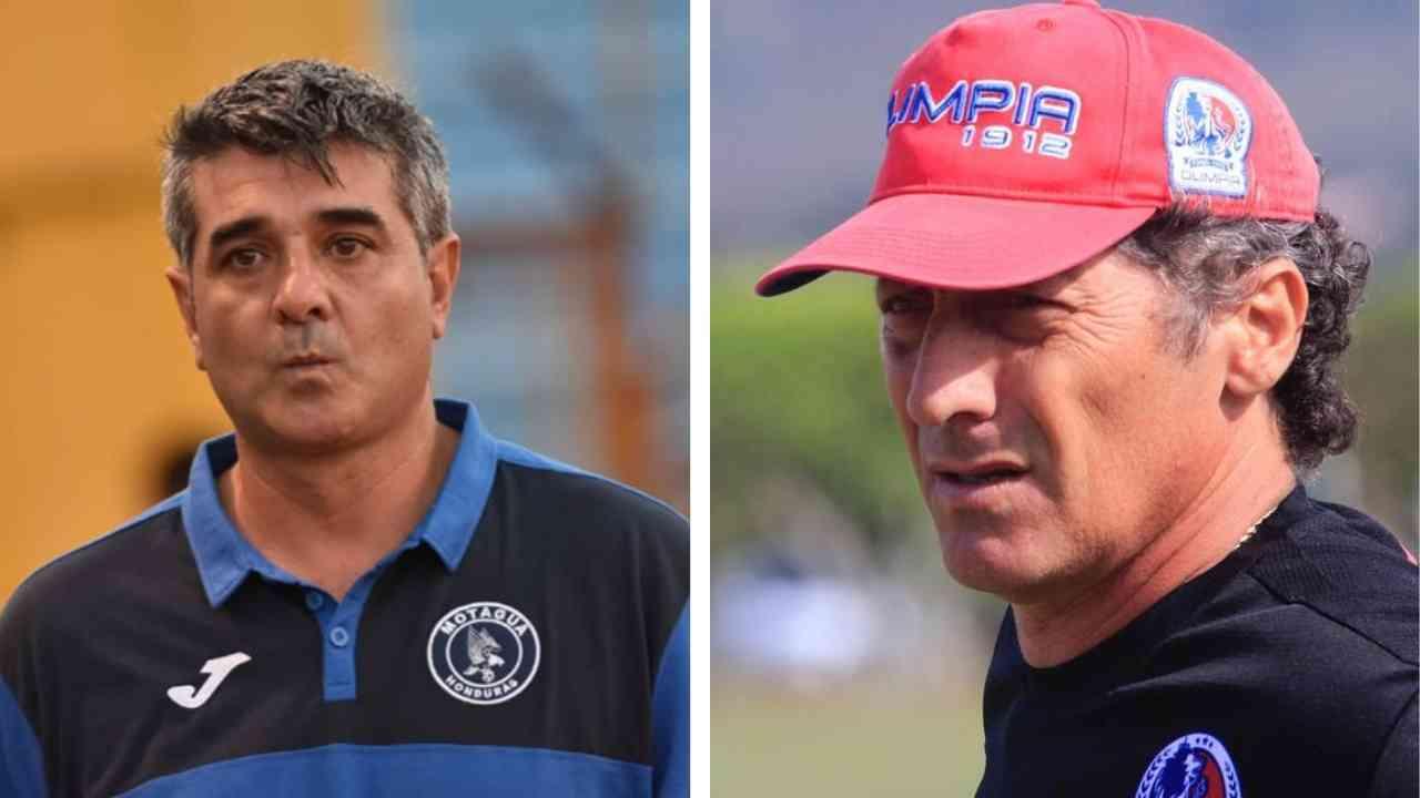 ¡Reconciliación! Diego Vázquez y Pedro Troglio juntos previo al Motagua vs Olimpia