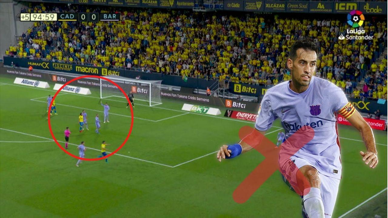 ¡Se avivó Busquets! La jugada que pudo terminar en gol de Choco Lozano con el Cádiz