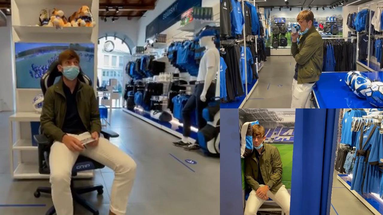 ¡Divertido video! Futbolista del Atalanta se ofrece a comprar y firmar camisetas pero nadie llega
