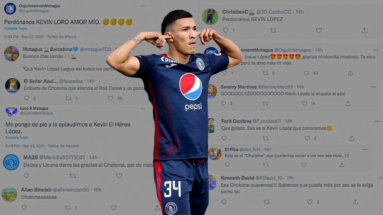 Aficionados motagüenses se 'disculpan' con Kevin López, que vuelve a ganar confianza con la afición azul
